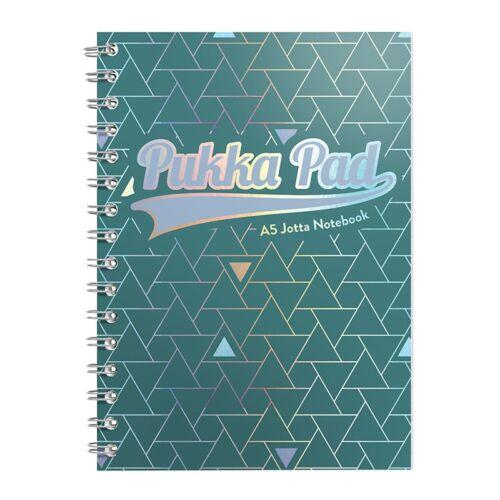 Spirálfüzet PUKKA PAD Glee A/5 100 lapos vonalas zöld