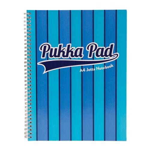Spirálfüzet PUKKA PAD Vogue A/4 100 lapos vonalas kék