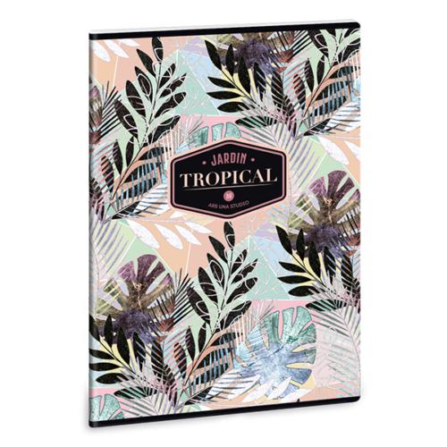 Füzet ARS UNA A/4 40 lapos Extra kapcsos vonalas Tropical Leaf