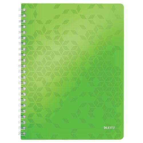 Spirálfüzet LEITZ Wow A/4 80 lapos vonalas zöld