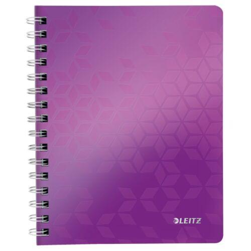 Spirálfüzet LEITZ Wow A/5 80 lapos kockás lila