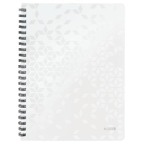 Spirálfüzet LEITZ Wow A/4 80 lapos kockás fehér