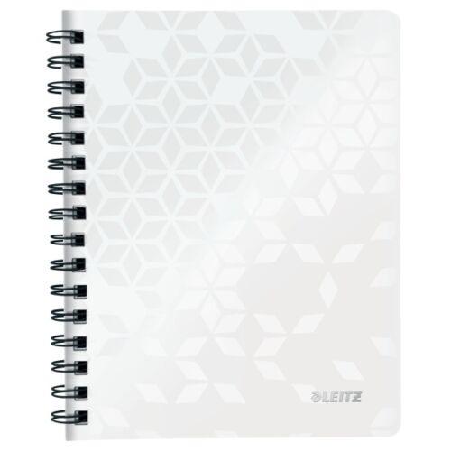 Spirálfüzet LEITZ Wow A/5 80 lapos vonalas fehér