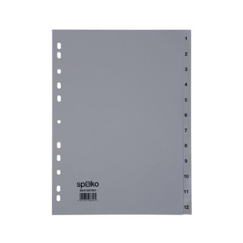 Regiszter SPOKO A/4 műanyag 1-12