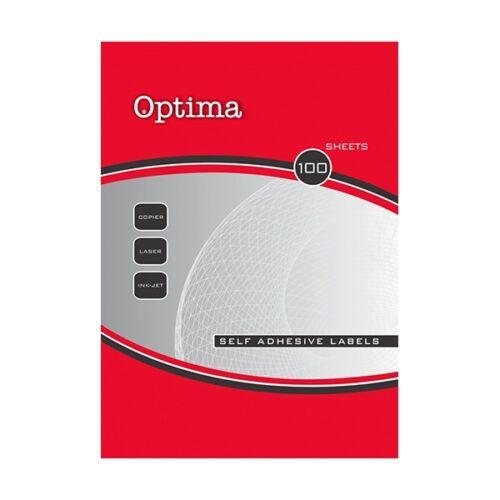 Etikett OPTIMA 32103 105x74mm 800 címke/doboz 100 ív/doboz