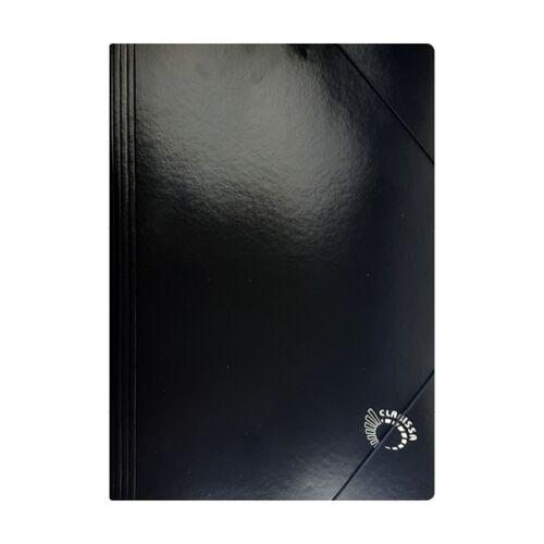 Gumis mappa CLARISSA A/4 papír 320 gr fekete