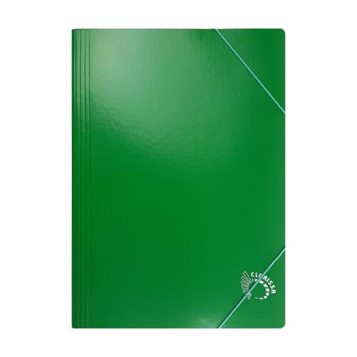 Gumis mappa CLARISSA A/4 papír 320 gr zöld