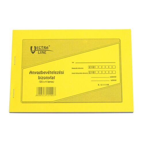 Nyomtatvány anyag bevét VECTRA-LINE 25x4 8 tételes