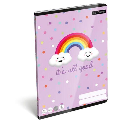 Füzet LIZZY CARD A/5 32 lapos vonalas 16-32 II. osztályos It`s all good