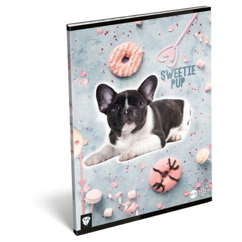 Füzet LIZZY CARD A/4 32 lapos kockás 87-32 Sweetie pup