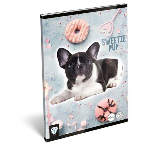 Füzet LIZZY A/5 32 lapos sima 20-32 Sweetie pup