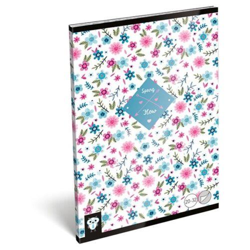 Füzet LIZZY A/5 32 lapos sima 20-32 Flower white