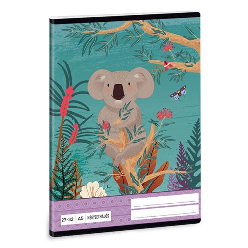 Füzet ARS UNA A/5 32 lapos kockás 27-32 Kirra Koala