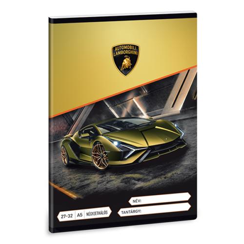 Füzet ARS UNA A/5 32 lapos kockás 27-32 Lamborghini