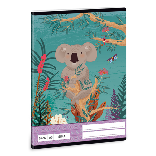 Füzet ARS UNA A/5 32 lapos sima 20-32 Kirra Koala
