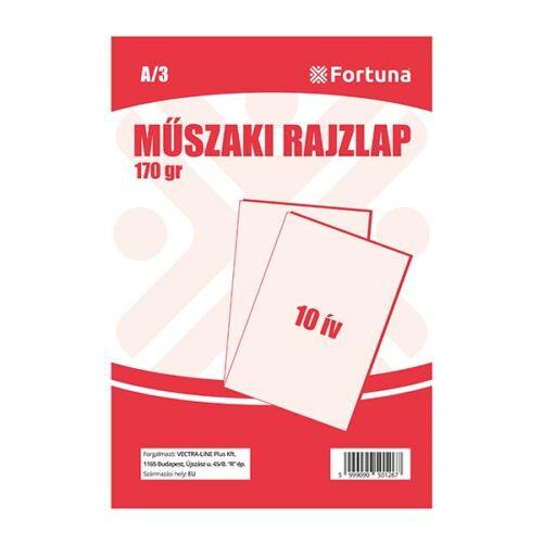 Rajzlap műszaki FORTUNA A/3 170gr 10 ív/csomag