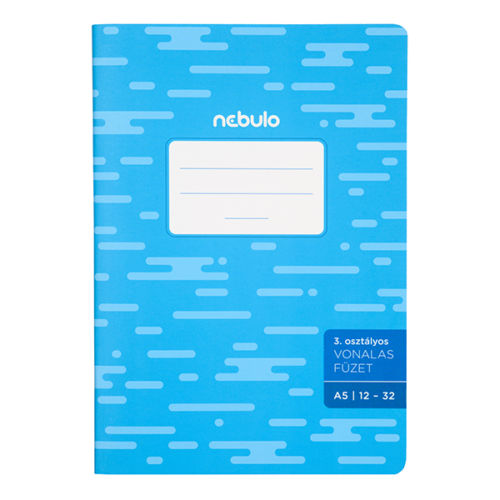 Füzet NEBULO basic+ A/5 32 lapos vonalas 12-32 III.osztályos