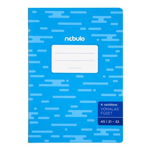 Füzet NEBULO basic+ A/5 32 lapos vonalas 21-32
