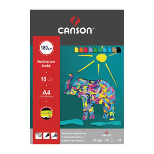 Fotókarton CANSON színes A/3 160 gr 10 ív/tömb