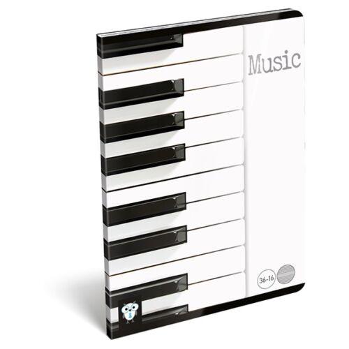 Hangjegyfüzet LIZZY CARD A/5 Piano 16 lapos