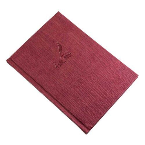 Vendégkönyv REALSYSTEM Fashion A/4 144 lapos sima bordó