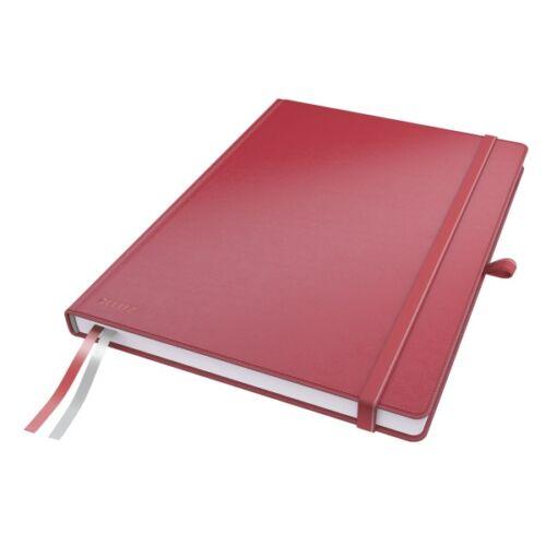 Jegyzetfüzet LEITZ Complete A/4 80 lapos vonalas piros
