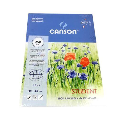 Akvarell karton CANSON 300x400mm 250 gr 10 ív/tömb