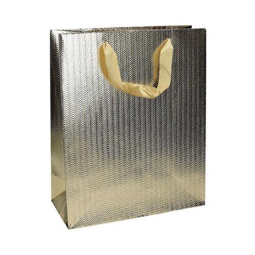 Ajándéktasak Eco Classic Plus L 26x32x12 elegáns arany