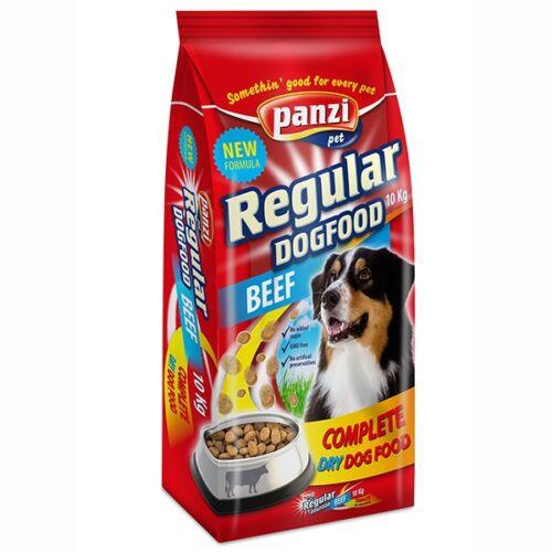 Állateledel száraz PANZI Regular kutyáknak marhahússal 10 kg