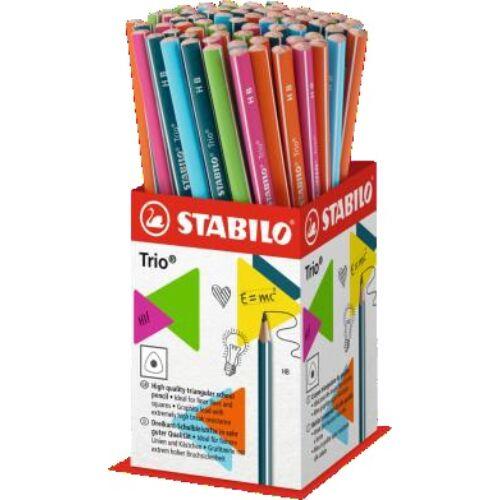 Grafitceruza display STABILO Trio 2B háromszögletű 72 db-os