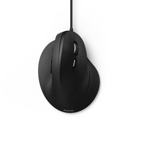 Egér vezetékes HAMA EMC-500 USB 1800 DPI fekete