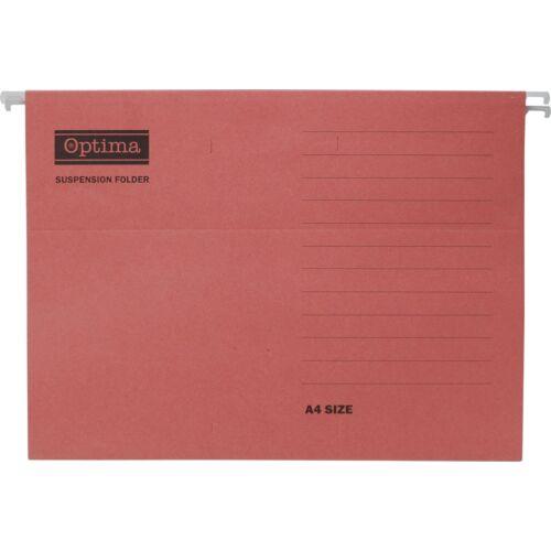 Függőmappa OPTIMA A/4 piros 25db/csomag