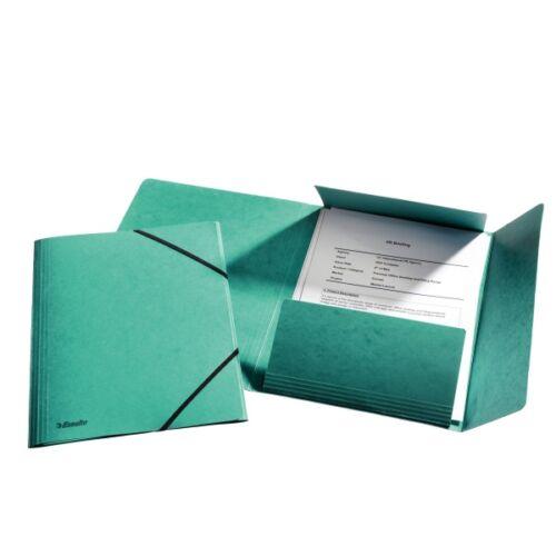 Gumis mappa ESSELTE luxus karton zöld
