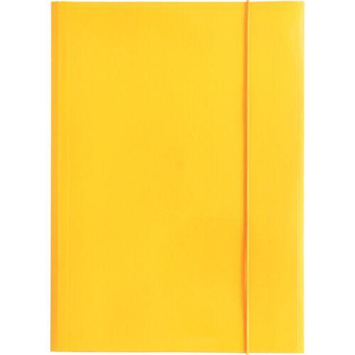 Gumis mappa OPTIMA A/4 sárga 600gr