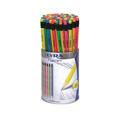 Grafitceruza LYRA Neon HB hengeres radíros fémhengerben 96 db-os