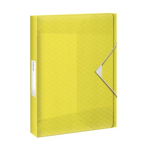 Gumis mappa ESSELTE Colour`Ice Jumbo Plus A/4 40mm PP sárga