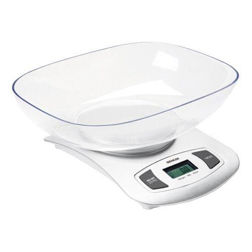 Tálas konyhai mérleg SENCOR SKS 4001WH 5 kg fehér